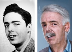 Pynchon, age 16, in his 1953 high-school yearbook, and a speculative photo sketch of what he may looks like today